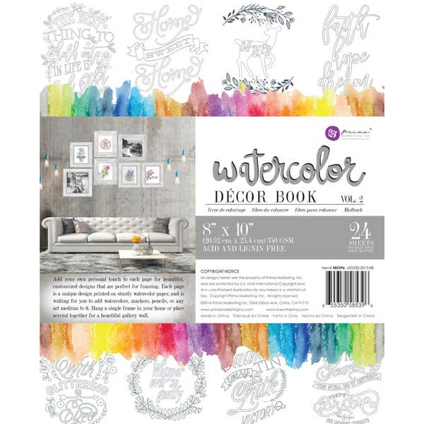 WATERCOLOR DECOR BOOK
