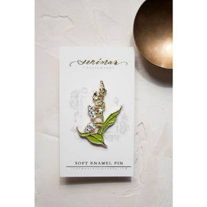 LILY OF THE VALLEY GOLD SOFT ENAMEL PIN