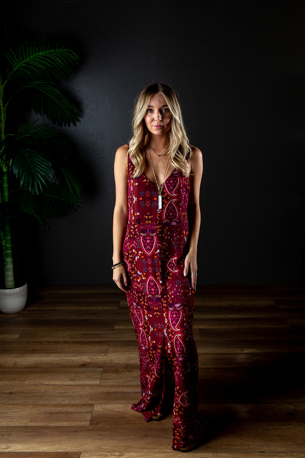 JULIE MAXI DRESS BURGUNDY