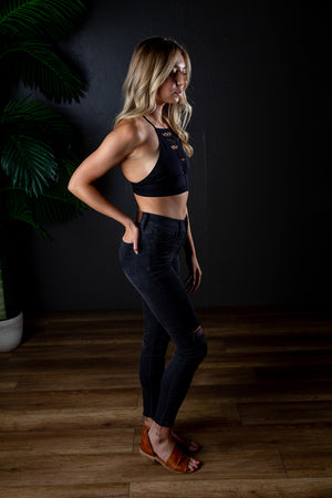 REVEL CROP TOP BLACK