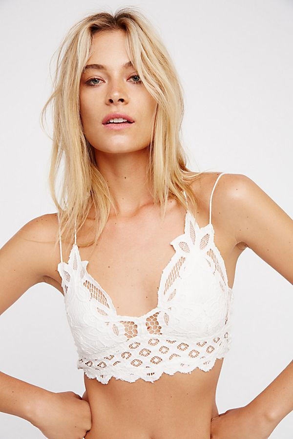 FREE PEOPLE ADELLA BRALETTE WHITE