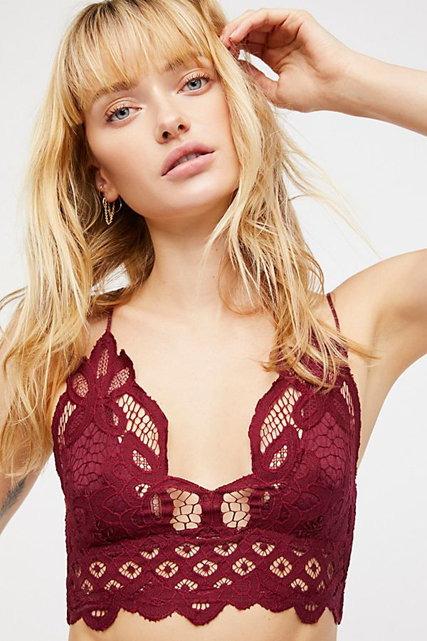 FREE PEOPLE ADELLA BRALETTE BURGUNDY