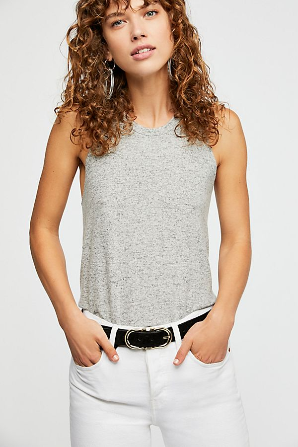 FREE PEOPLE COZY TANK GREY-