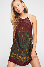 FREE PEOPLE PRINTED MINI DRESS-