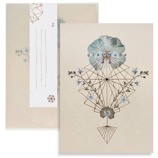 "C26 - Greeting Card ""Gratitude Geo"""