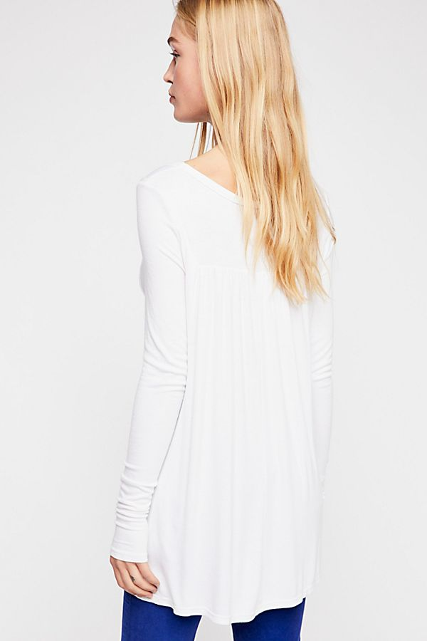 FREE PEOPLE BABYDOLL TOP WHITE-