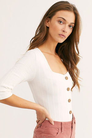 FREE PEOPLE BUTTON DOWN TUNIC WHITE