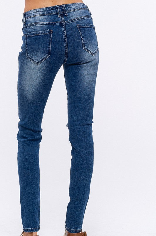 JOSIE DISTRESSED SKINNY PANTS