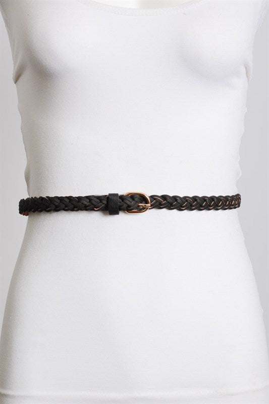 BRIELLE BRAIDED BELT BLACK