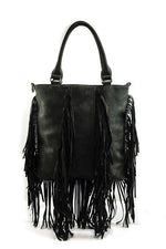 CLARA FRINGE BAG BLACK