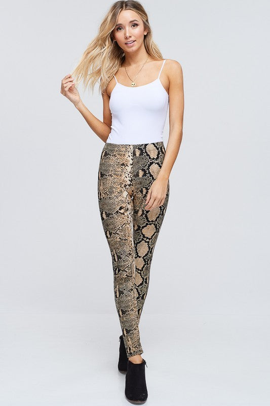 REBEL SNAKE PRINT LEGGING