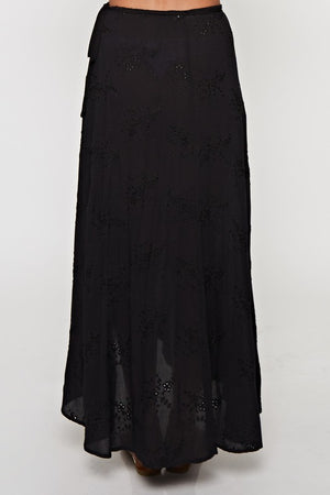 JULIE LOVE MAXI SKIRT BLACK-