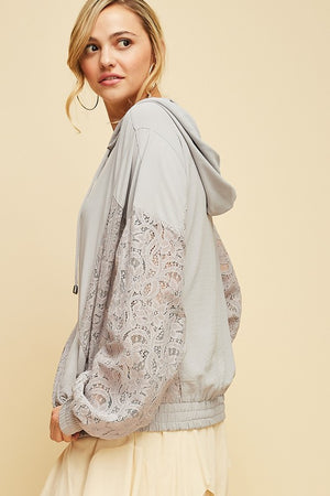 FLORA LACE JACKET GREY-