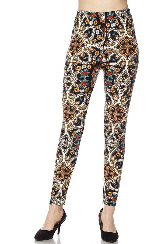 BRYNNE FLORAL MULTI LEGGINGS BLACK*