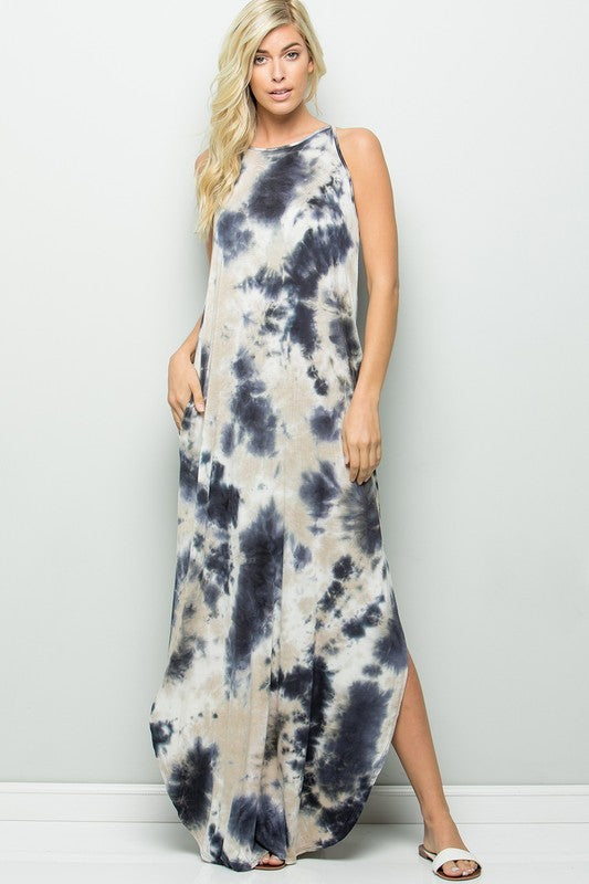 LILLIAN TIE DYE MAXI DRESS
