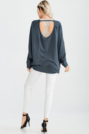 VERA OPEN BACK TUNIC TEAL