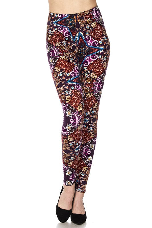 BRYNNE PRINTED LEGGINGS PURPLE*