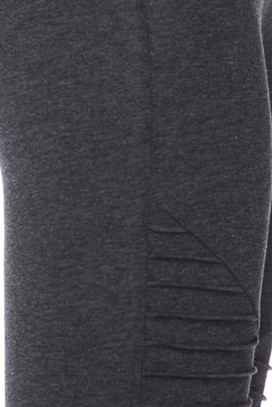 TIFFANY MOTO COTTON LEGGING -GREY-