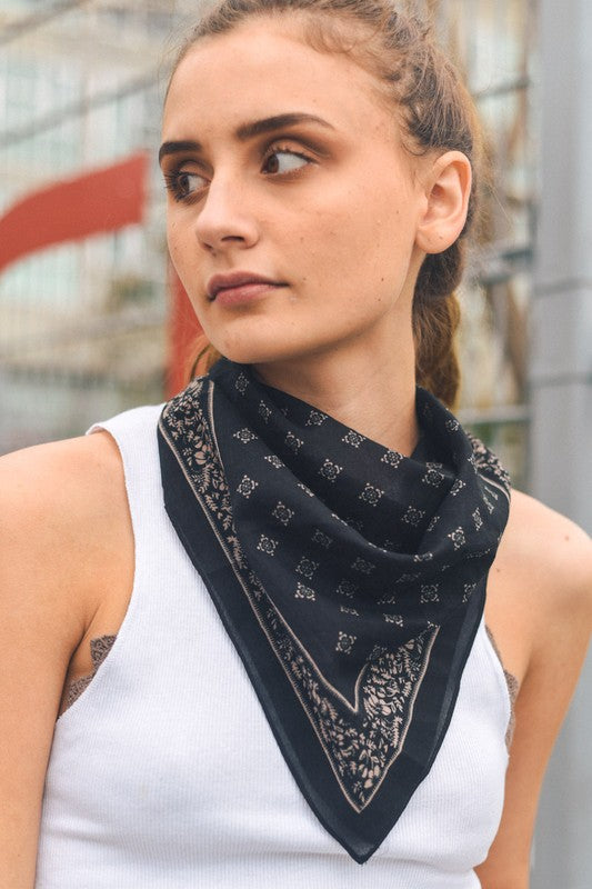 DUNE PRINTED HEAD SCARF