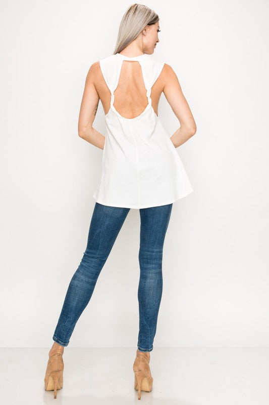 MAURA TWIST BACK TANK