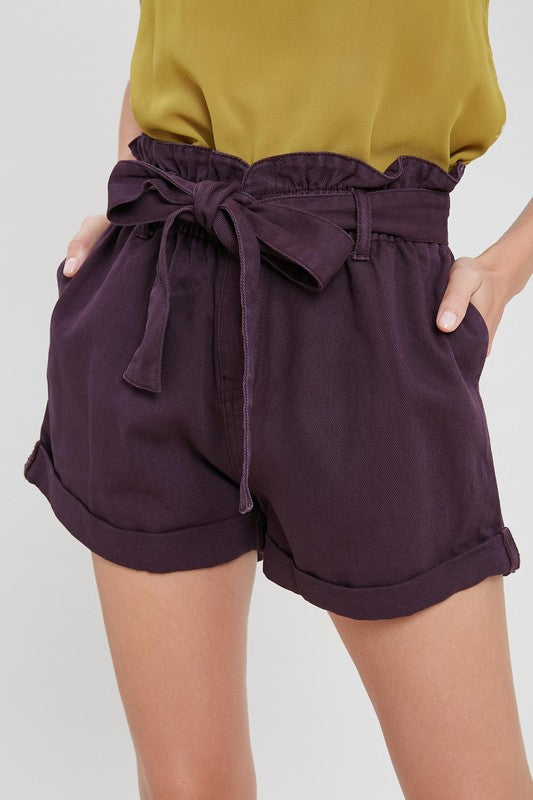 RENZO TIE WAIT SHORTS PURPLE