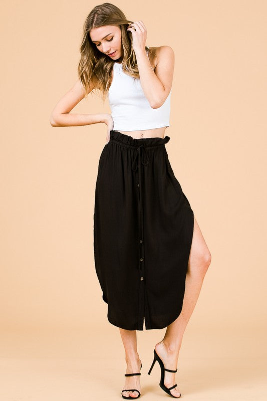 MONDAY MIDI SKIRT BLACK
