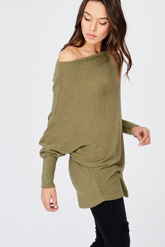 BEXLEY THERMAL TUNIC SWEATER GREY-