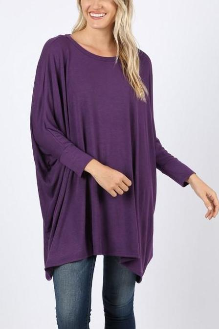 APRIL PONCHO TUNIC PURPLE-