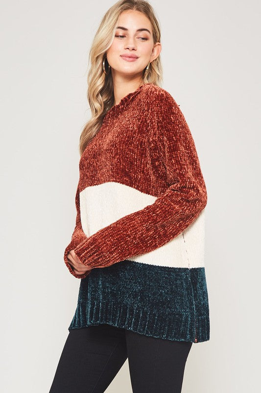 FIONA BLOCK PULLOVER SWEATER