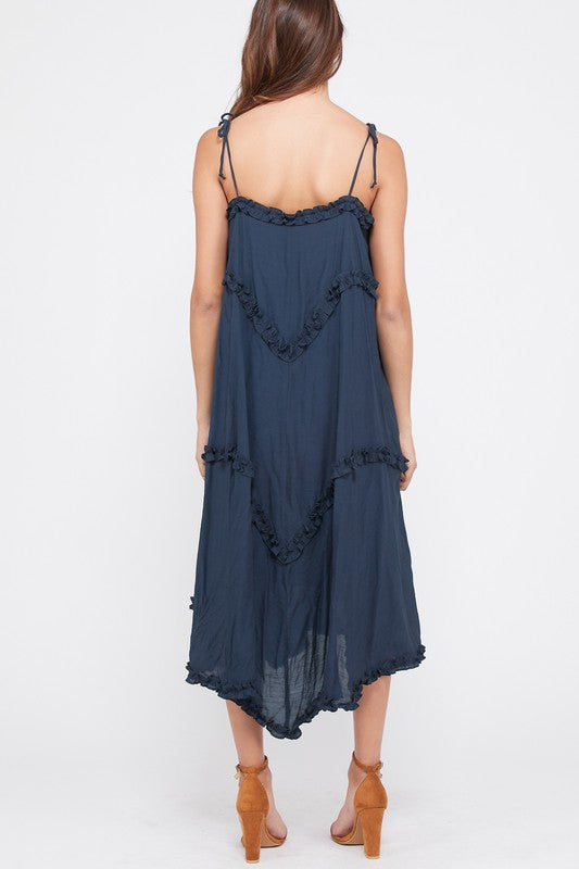 ROSIE MIDI DRESS NAVY