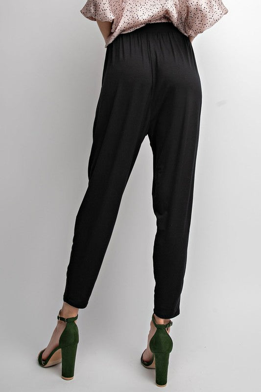 EMERSON CROP PANT BLACK-
