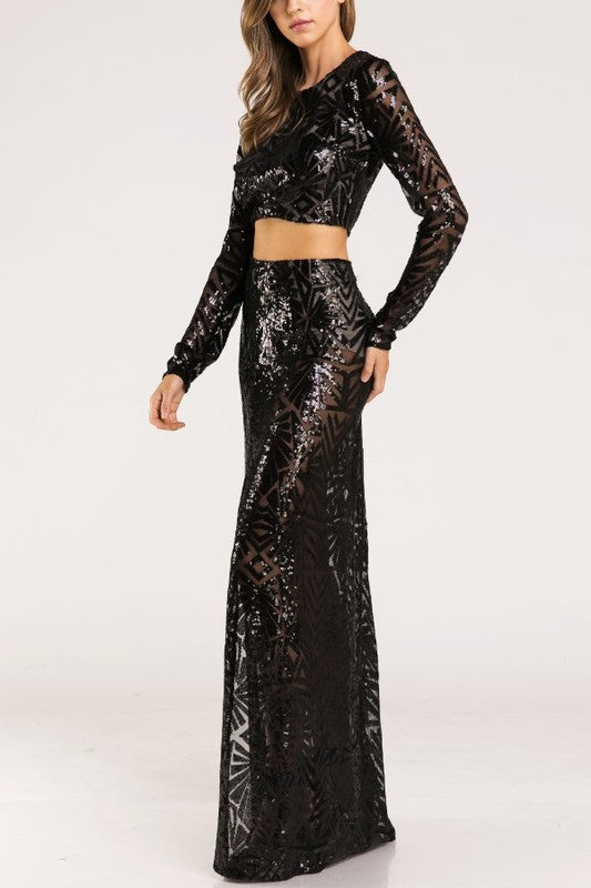 KENNEDY SEQUIN CROP TOP*