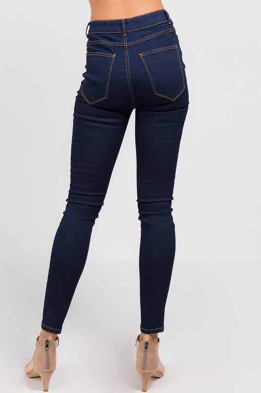 WEST COAST DISTRESSED SKINNY JEANS