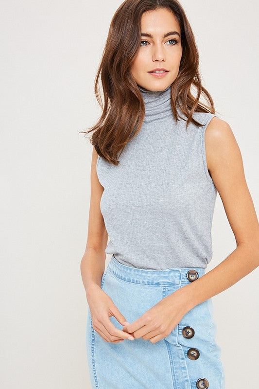 MELODY TURTLENECK TOP GREY