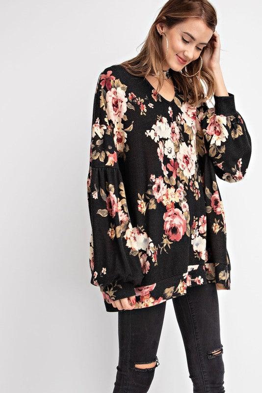 GISELLE FLORAL PULLOVER*