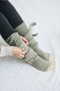 MAIN SQUEEZE KNIT SOCKS GREEN