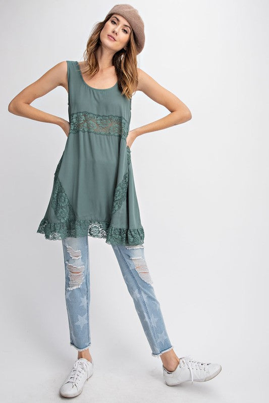 VALENTINA LACE DRESS GREEN-