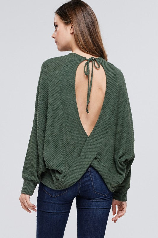 LEMON OPEN BACK TOP GREEN