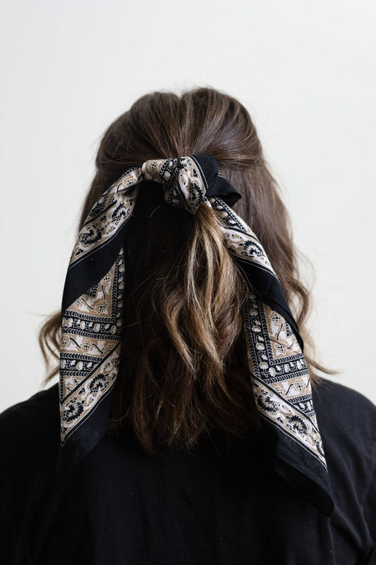 SONGBIRD PRINTED HEAD SCARF