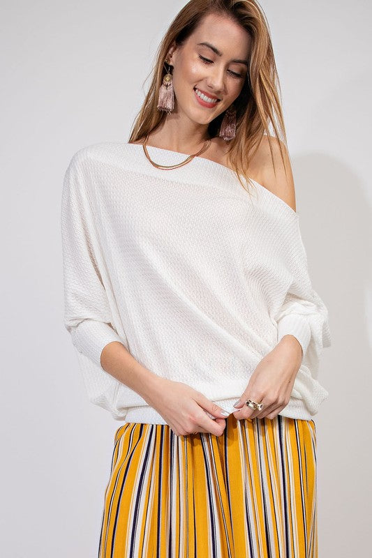 ROXY OFF SHOULDER THERMAL WHITE-
