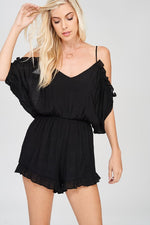 GABBY OFF THE SHOULDER ROMPER