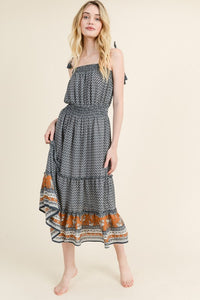 MAELIE PRINTED MIDI DRESS
