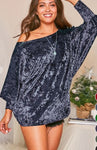 TOTALLY RAD VELVET TUNIC BLUE