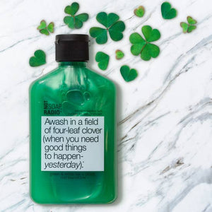 SHIMMERY GREEN+WHITE TEA SHOWER GEL