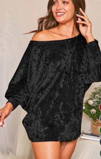 TOTALLY RAD VELVET TUNIC BLACK