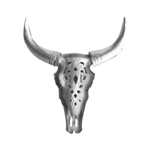 Wall Charmers - The Ledoux Large Carved Cow Skull Faux Taxidermy Single Color