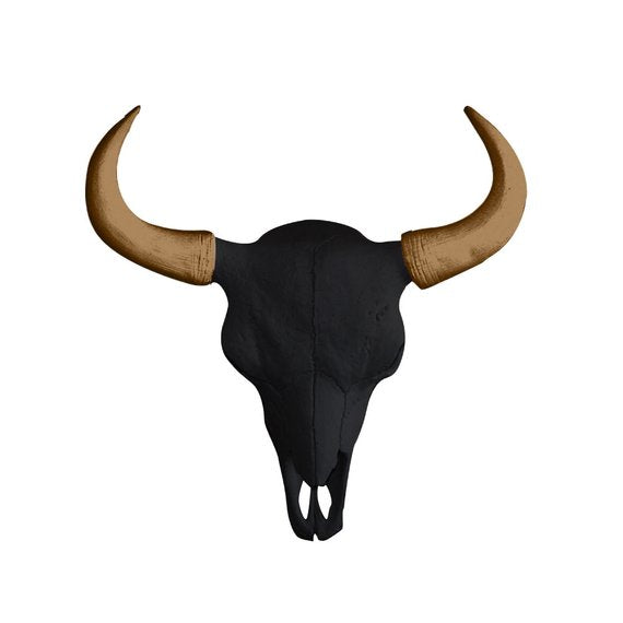 Wall Charmers - The Large Yellowstone Skull Buffalo Bison Faux Taxidermy Dual Color