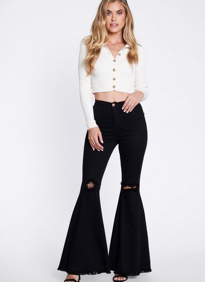 ROBIN DISTRESSED FLARE JEANS