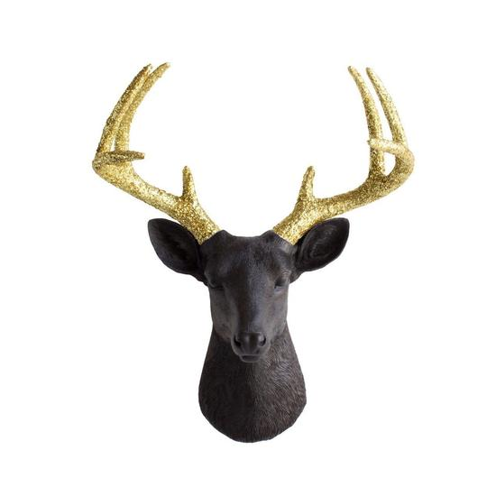 Wall Charmers - The Virginia Large Deer Head Faux Taxidermy Glitter
