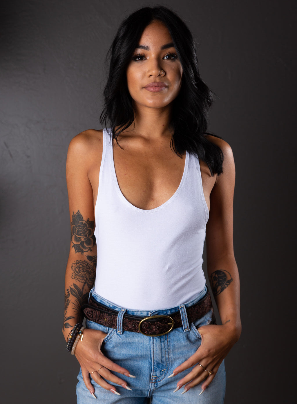 LILA SOLID BODYSUIT WHITE
